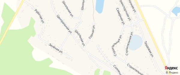 Горная улица на карте села Серафимовский с номерами домов