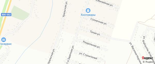 Заречная улица на карте села Агиртамака с номерами домов