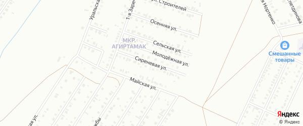 Сиреневая улица на карте Туймаз с номерами домов