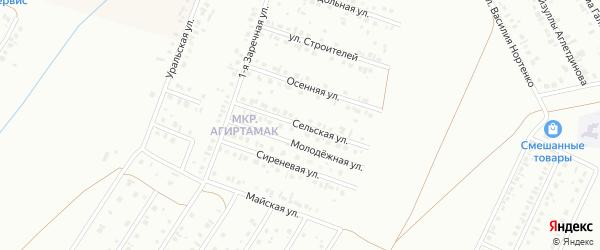 Сельская улица на карте Туймаз с номерами домов