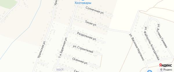 Раздольная улица на карте Туймаз с номерами домов
