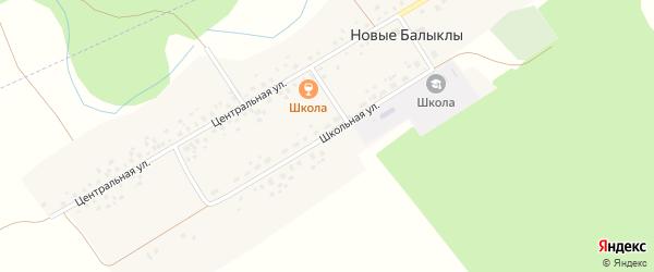Школьная улица на карте села Новые Балыклы с номерами домов
