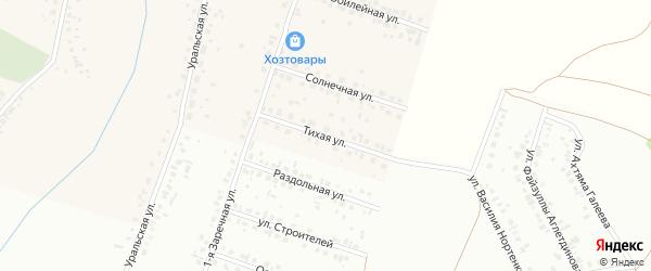 Тихая улица на карте села Агиртамака с номерами домов