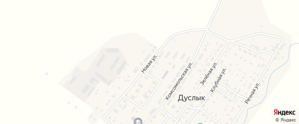 Новая улица на карте села Дуслыка с номерами домов