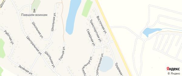 Северная улица на карте села Серафимовский с номерами домов