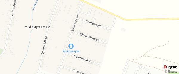 Юбилейная улица на карте села Агиртамака с номерами домов