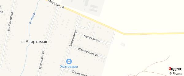 Полевая улица на карте села Агиртамака с номерами домов