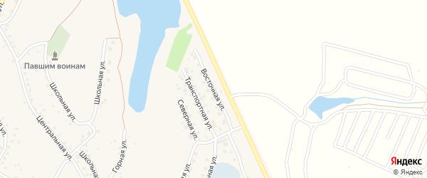 Восточная улица на карте села Серафимовский с номерами домов