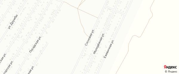 Сосновая улица на карте Туймаз с номерами домов