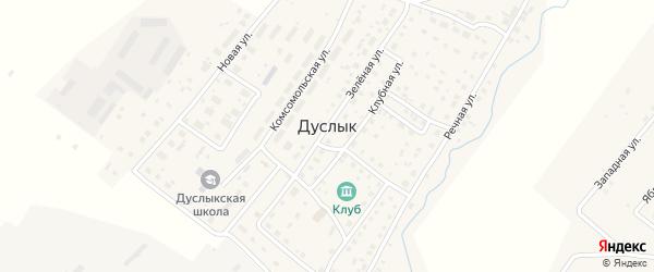 Лесная улица на карте села Дуслыка с номерами домов