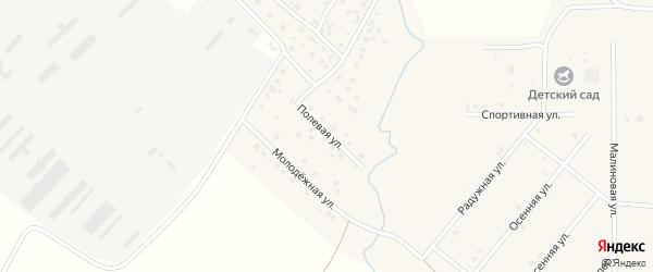 Полевая улица на карте села Дуслыка с номерами домов