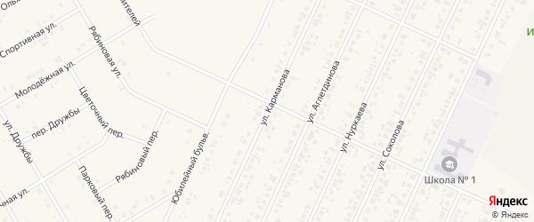 Улица Карманова на карте села Бакалы с номерами домов