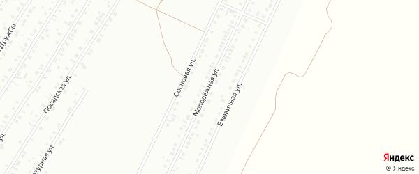Молодежная улица на карте Туймаз с номерами домов