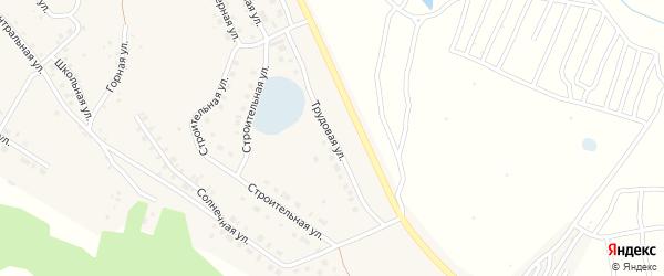 Трудовая улица на карте села Серафимовский с номерами домов