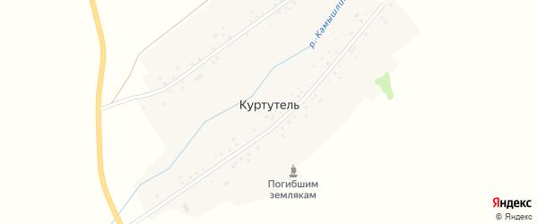Торговая улица на карте деревни Куртутели с номерами домов
