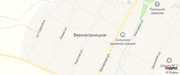 Базарный переулок на карте Верхнетроицкого села с номерами домов