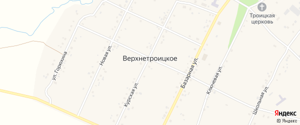 Улица Слободка на карте Верхнетроицкого села с номерами домов