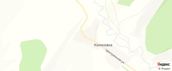 Карта деревни Калиновки в Башкортостане с улицами и номерами домов