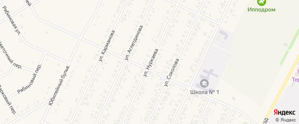 Улица Нуркаева на карте села Бакалы с номерами домов