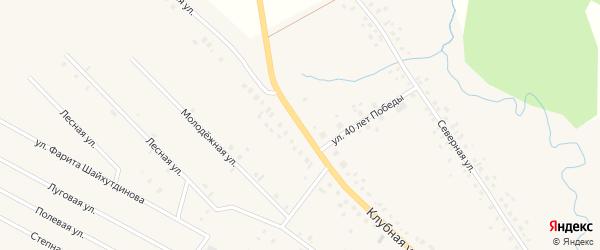 Клубная улица на карте села Тюменяка с номерами домов