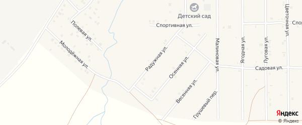 Молодежная улица на карте села Дуслыка с номерами домов