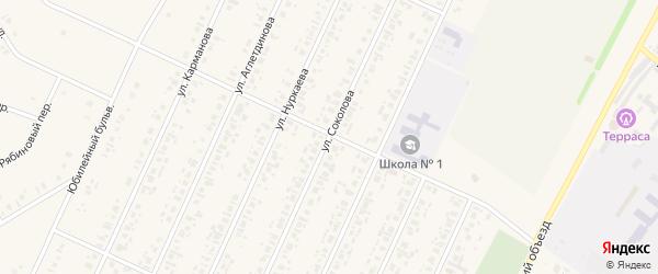 Улица Соколова на карте села Бакалы с номерами домов
