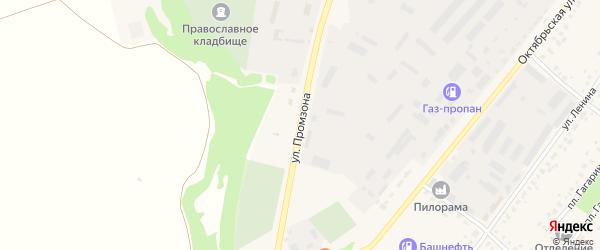 Улица Промзона на карте села Бакалы с номерами домов