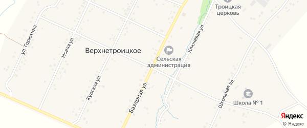 Базарная улица на карте Верхнетроицкого села с номерами домов