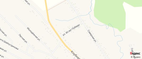 Улица 40 лет Победы на карте села Тюменяка с номерами домов