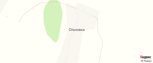 Центральная улица на карте деревни Ольховки с номерами домов