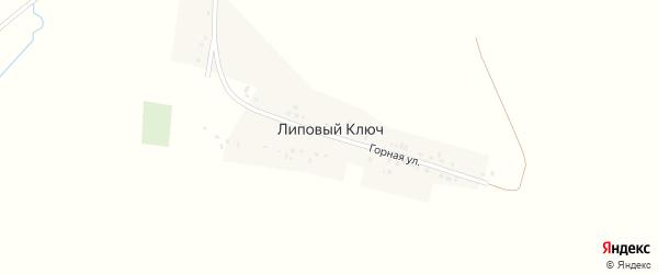 Горная улица на карте деревни Липового Ключа с номерами домов