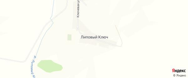 Карта деревни Липового Ключа в Башкортостане с улицами и номерами домов