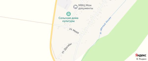 Улица Мира на карте села Дюртюли с номерами домов