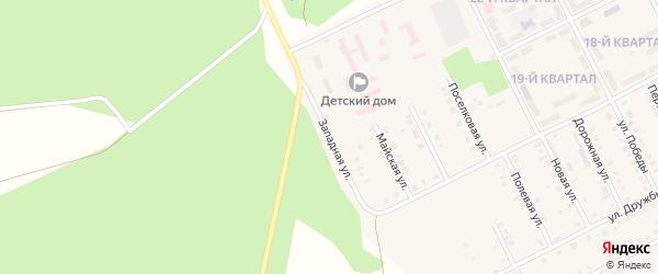 Западная улица на карте села Серафимовский с номерами домов