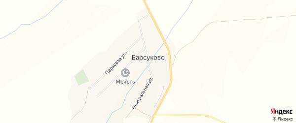 Карта села Барсуково в Башкортостане с улицами и номерами домов