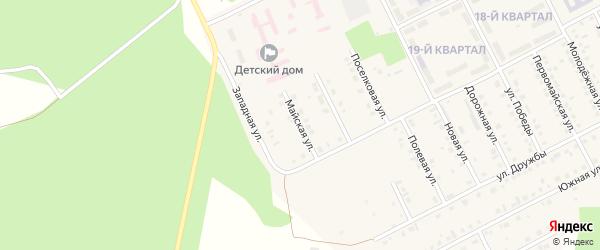 Майская улица на карте села Серафимовский с номерами домов