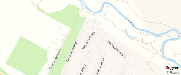 Радужный переулок на карте деревни Нуркеево с номерами домов