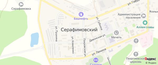 Каменная улица на карте села Серафимовский с номерами домов