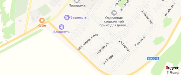 Комсомольская улица на карте села Бакалы с номерами домов
