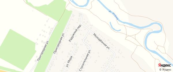 Молодежный переулок на карте деревни Нуркеево с номерами домов