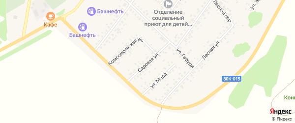 Садовая улица на карте села Бакалы с номерами домов