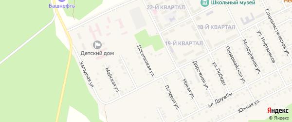 Поселковая улица на карте села Серафимовский с номерами домов