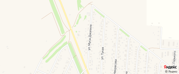 Улица М.Джалиля на карте села Бакалы с номерами домов