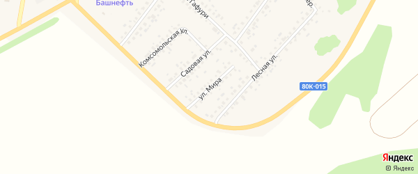 Улица Мира на карте села Бакалы с номерами домов