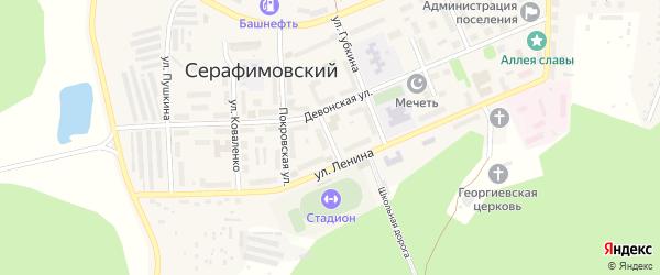 Лесная улица на карте села Серафимовский с номерами домов