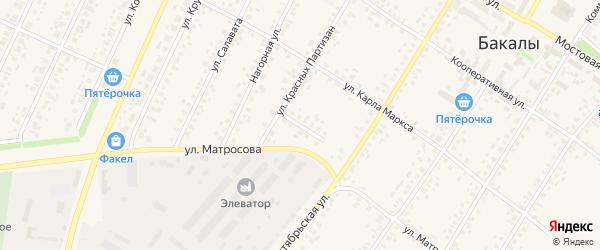 Хлебная улица на карте села Бакалы с номерами домов