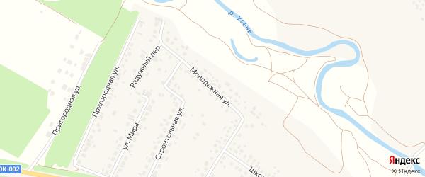 Молодежная улица на карте деревни Нуркеево с номерами домов