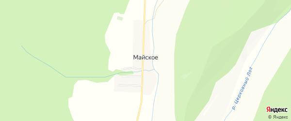 Карта деревни Майского в Башкортостане с улицами и номерами домов