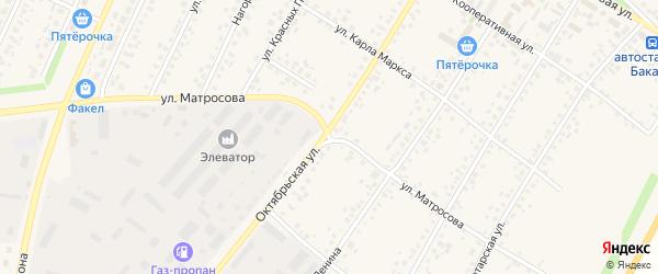 Улица Матросова на карте села Бакалы с номерами домов