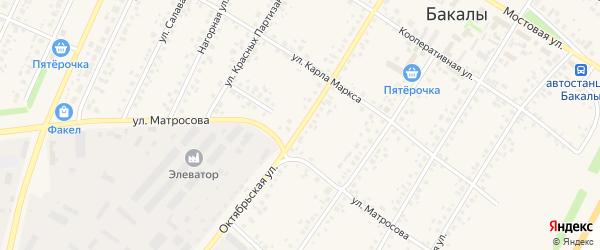 Октябрьская улица на карте села Бакалы с номерами домов